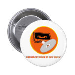 Mix Tapin' Badge Button