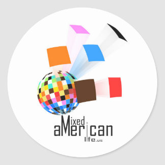 Mixed American Life Classic Round Sticker