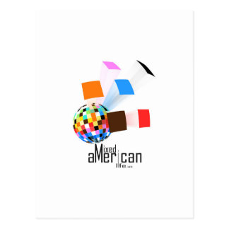 Mixed American Life Postcard