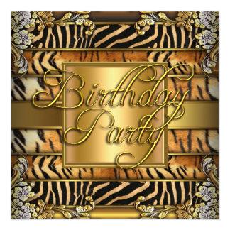 Mixed Animal Print Woman's Birthday Party Card