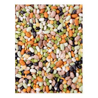 Mixed beans postcard