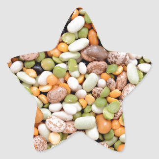 Mixed beans star sticker