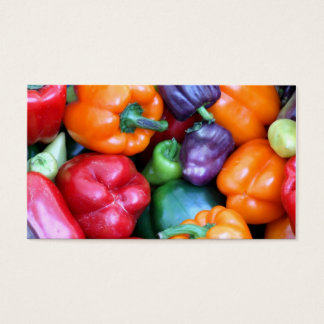 Mixed Bell Peppers Business Card