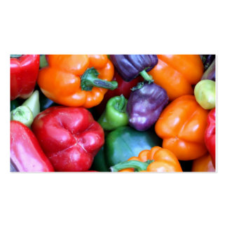 Mixed Bell Peppers Business Cards