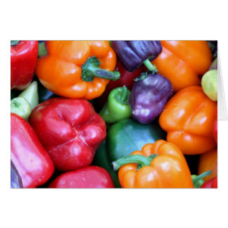 Mixed Bell Peppers Card