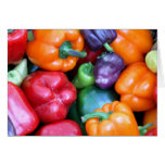 Mixed Bell Peppers Greeting Card