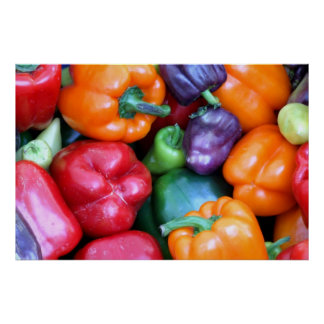 Mixed Bell Peppers Poster
