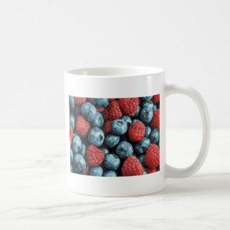 Mixed berries (blueberries and raspberries) design coffee mug