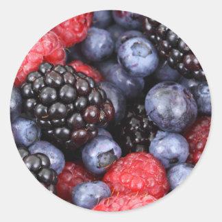 Mixed Berries Classic Round Sticker