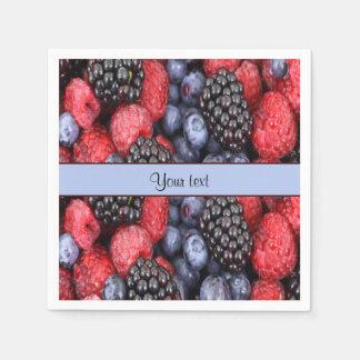 Mixed Berries Paper Napkin