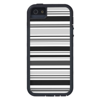 Mixed Black, Gray, White Lines iPhone SE/5/5s Case