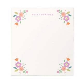 Mixed Blooms Notepad - Orchid