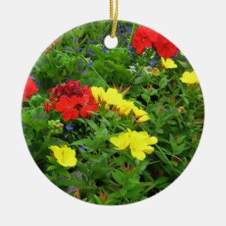 Mixed Blooms Olympia Farmer' s Market Garden Ceramic Ornament