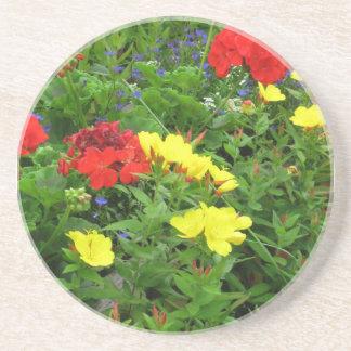 Mixed Blooms Olympia Farmer' s Market Garden Coasters