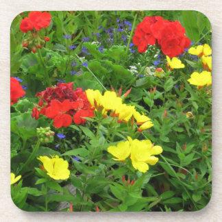 Mixed Blooms Olympia Farmer' s Market Garden Coaster