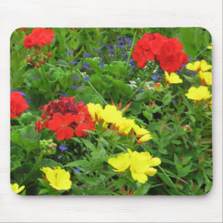 Mixed Blooms Olympia Farmer' s Market Garden Mouse Pad