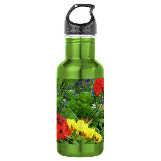 Mixed Blooms Olympia Farmer' s Market Garden 18oz Water Bottle