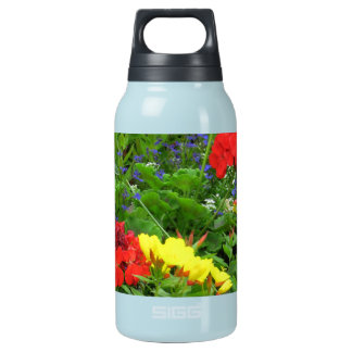 Mixed Blooms Olympia Farmer' s Market Garden 10 Oz Insulated SIGG Thermos Water Bottle