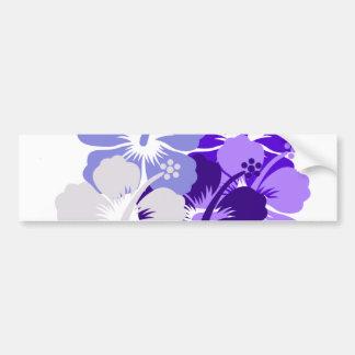 mixed blue hibiscus design bumper stickers