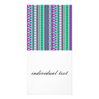mixed border purple green picture card
