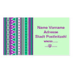 mixed borders purple green business card templates