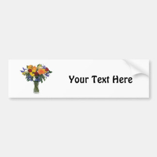 Mixed Bouquet of Tropical Colored Flowers Bumper Stickers