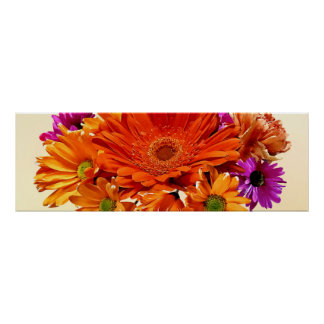 Mixed Bouquet With Gerbera Daisy and Mums Posters