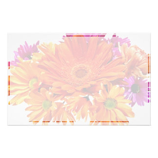 Mixed Bouquet With Gerbera Daisy and Mums Personalized Stationery