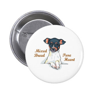 MIXED BREED 2 INCH ROUND BUTTON