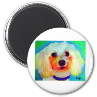 Mixed Breed Dog 2 Inch Round Magnet