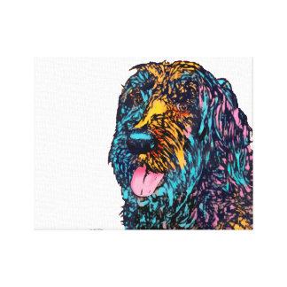 Mixed Breed Dog Canvas Print