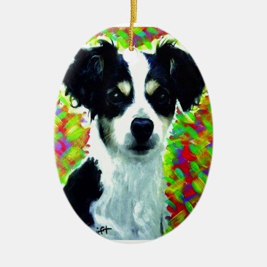 Mixed Breed Dog Ceramic Ornament