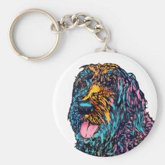 Mixed Breed Dog Keychain