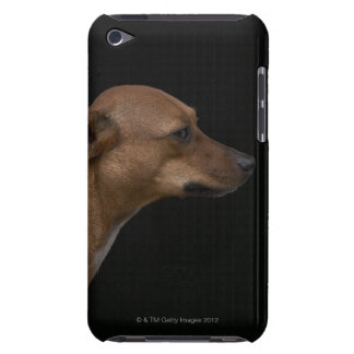 Mixed breed dog profile on black background barely there iPod cover