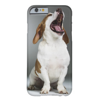 Mixed breed dog yawning, close-up barely there iPhone 6 case