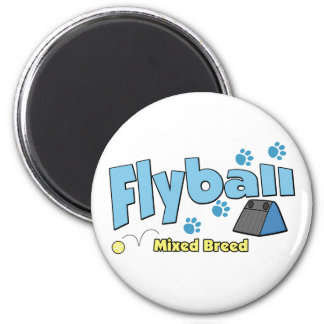 Mixed Breed Flyball Fridge Magnets