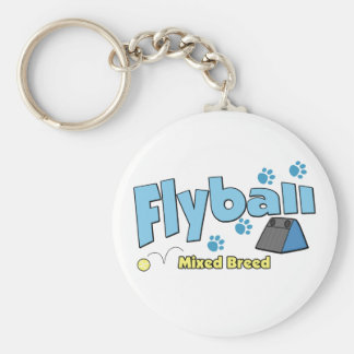 Mixed Breed Flyball Keychains