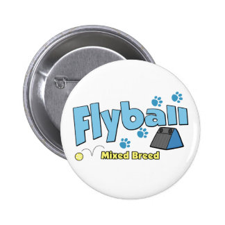 Mixed Breed Flyball Pinback Buttons