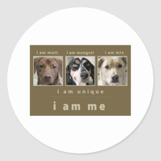 Mixed Breed: I Am Me Classic Round Sticker