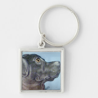 Mixed Breed Lab  Keychain original artwork