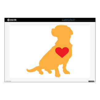 """Mixed Breed Silhouette 17"""" Laptop Decals"""