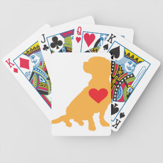Mixed Breed Silhouette Bicycle Playing Cards