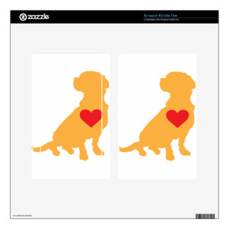 Mixed Breed Silhouette Decals For Kindle Fire