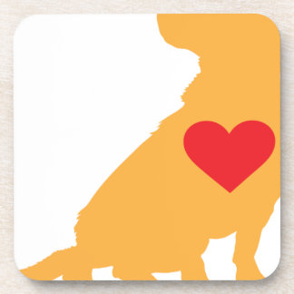 Mixed Breed Silhouette Drink Coaster