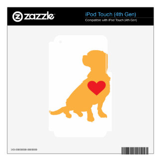 Mixed Breed Silhouette iPod Touch 4G Decal