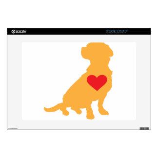 Mixed Breed Silhouette Laptop Decals