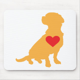 Mixed Breed Silhouette Mouse Pad