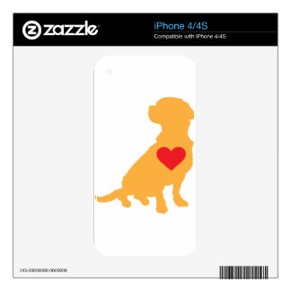 Mixed Breed Silhouette Skin For The iPhone 4S