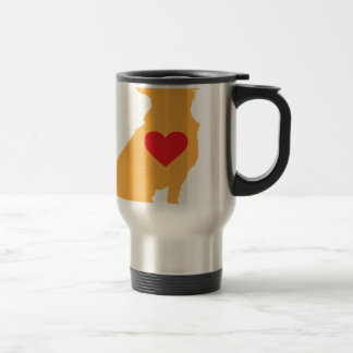 Mixed Breed Silhouette Travel Mug