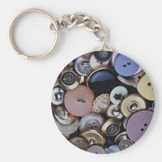 Mixed buttons key chains